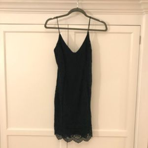 Topshop Dresses - green fitted lace body con dress from topshop